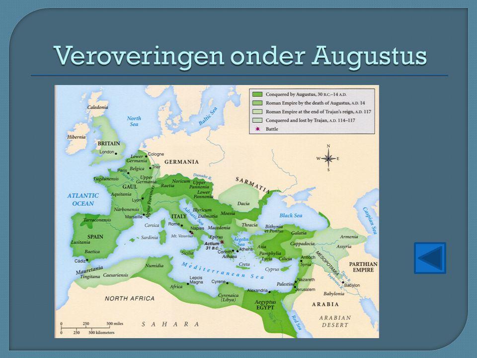 Veroveringen onder Augustus