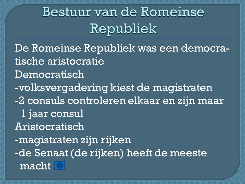 Bestuur van de Romeinse Republiek