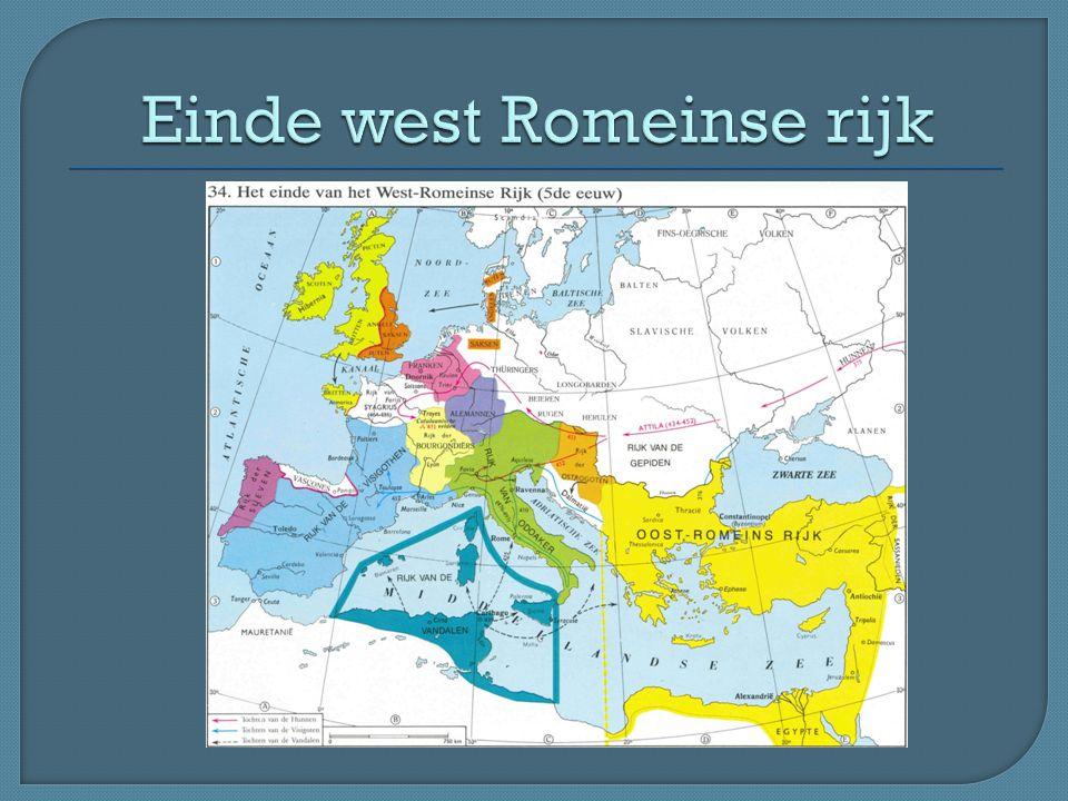 Einde west Romeinse rijk