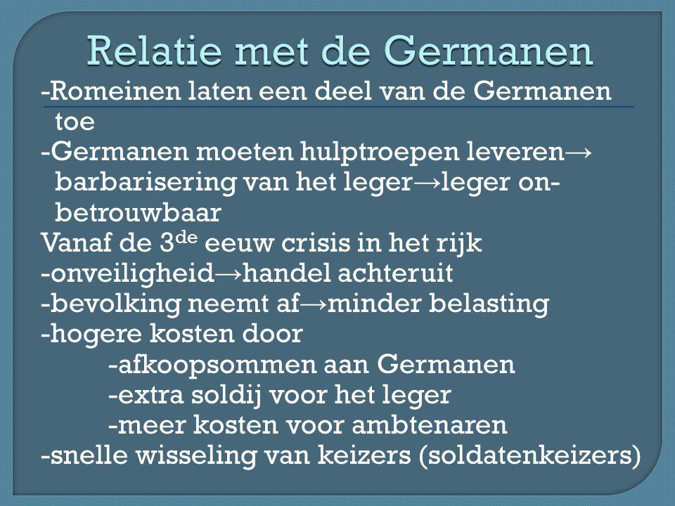 Relatie met de Germanen