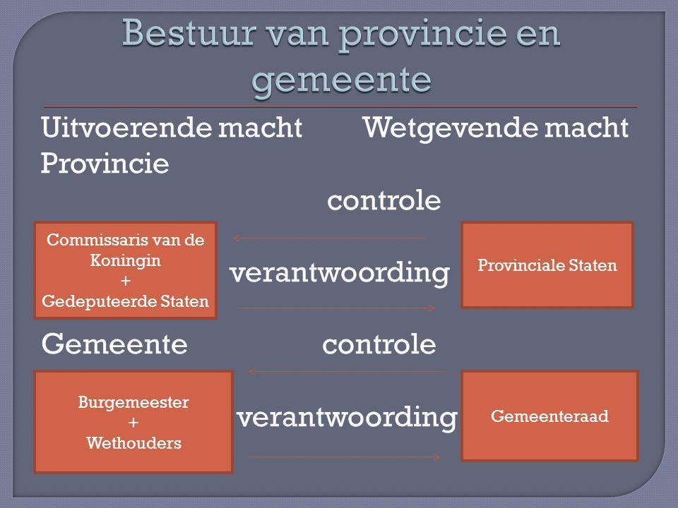 Bestuur van provincie en gemeente