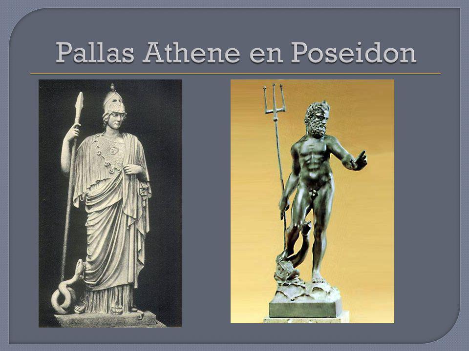 Pallas Athene en Poseidon