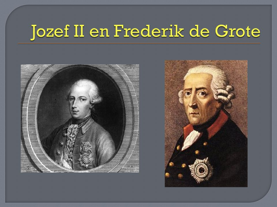 Jozef II en Frederik de Grote