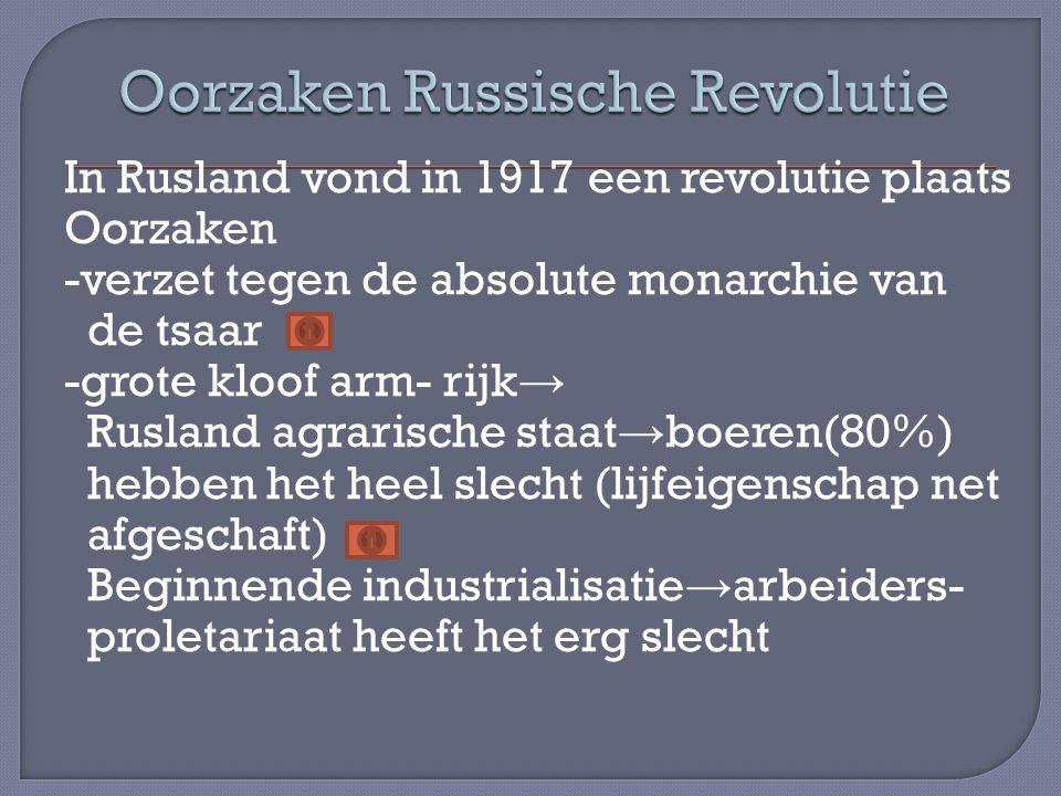 Oorzaken Russische Revolutie