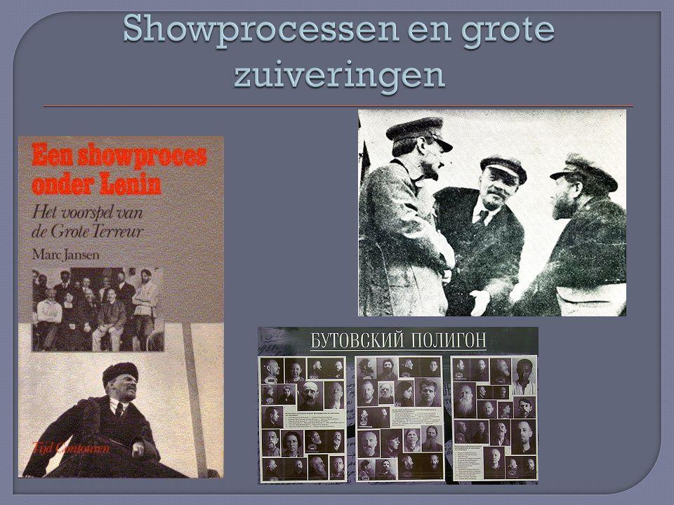 Showprocessen en grote zuiveringen