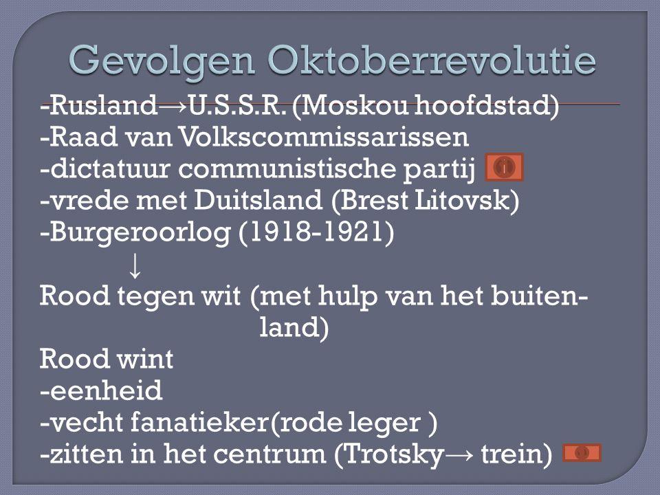 Gevolgen Oktoberrevolutie