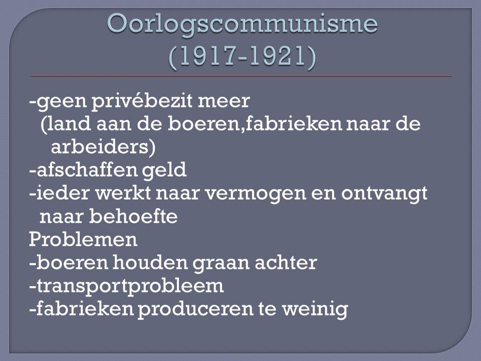 Oorlogscommunisme (1917-1921)