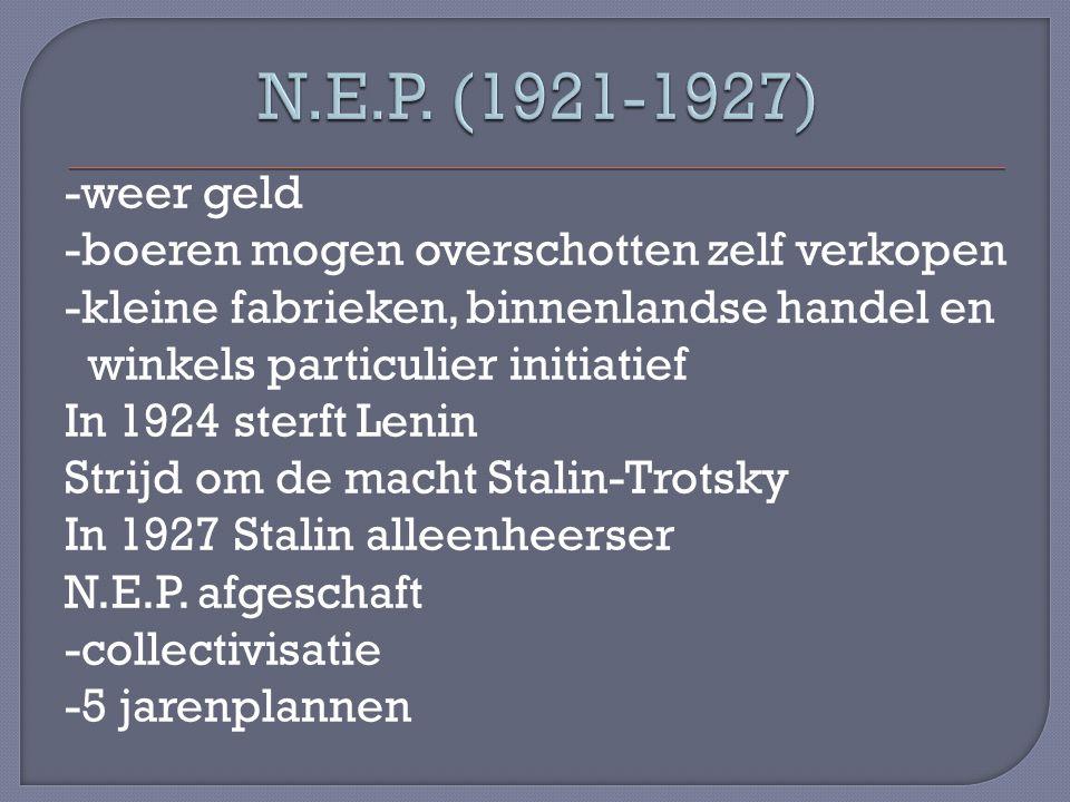 N.E.P. (1921-1927)