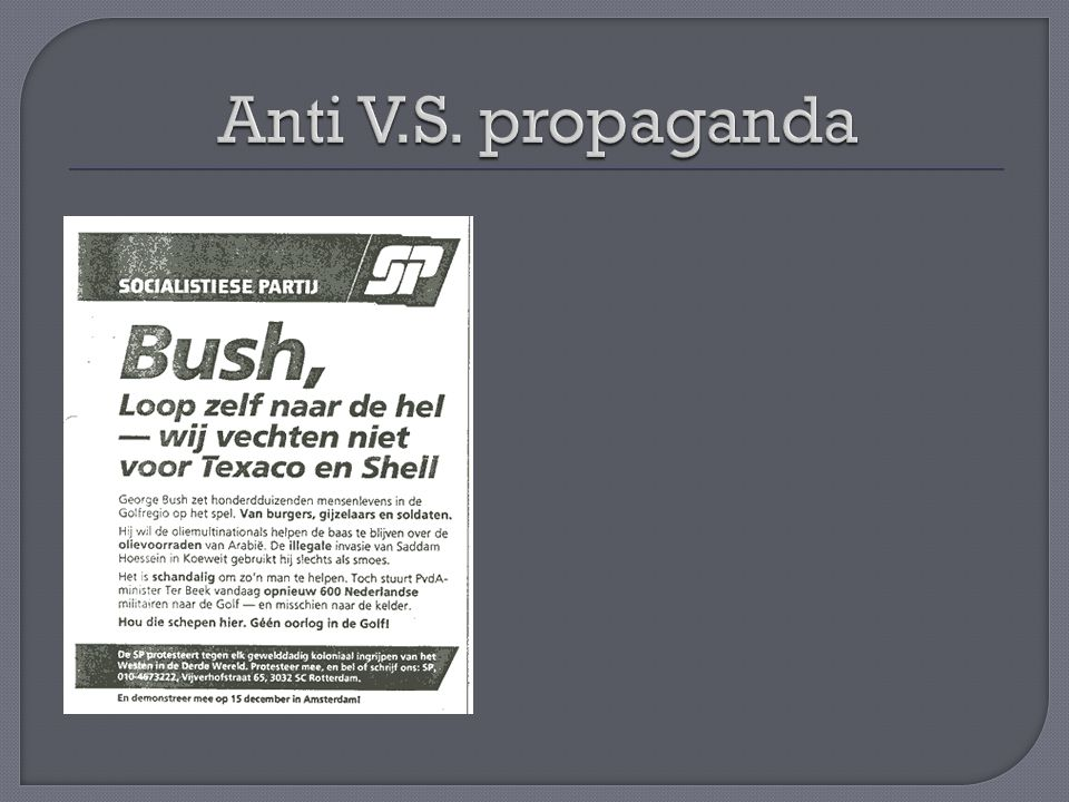 Anti V.S. propaganda