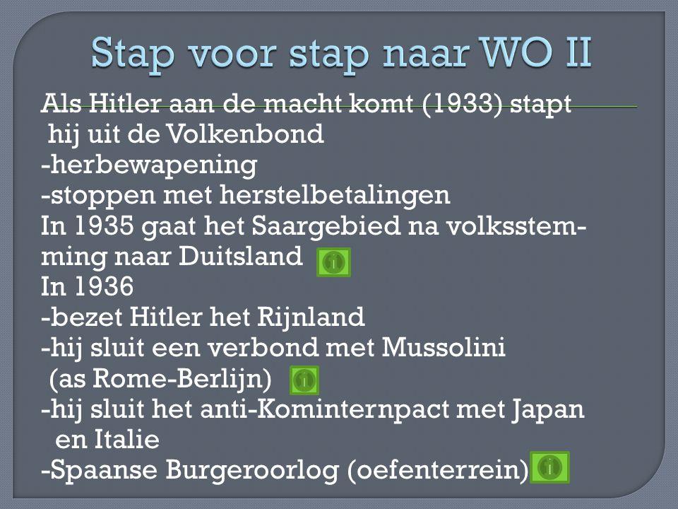 Stap voor stap naar WO II
