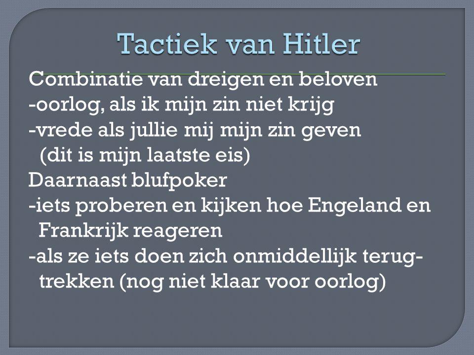 Tactiek van Hitler