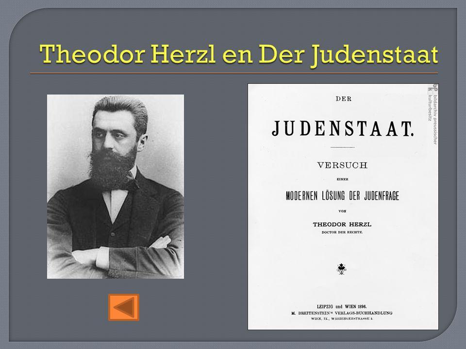 Theodor Herzl en Der Judenstaat
