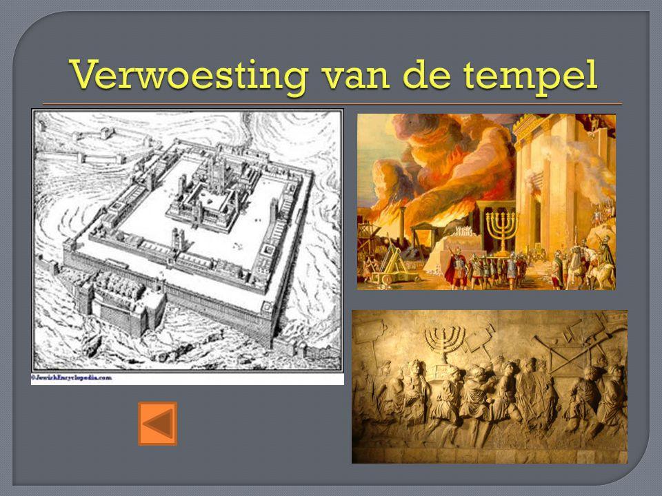 Verwoesting van de tempel