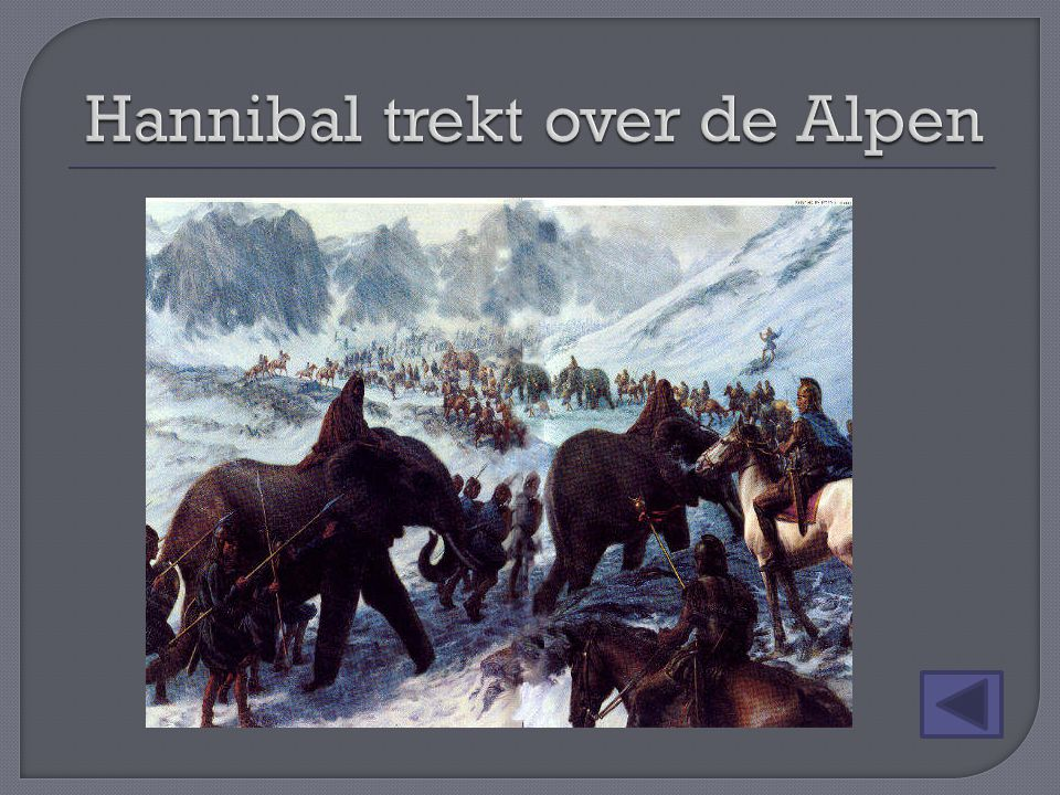 Hannibal trekt over de Alpen