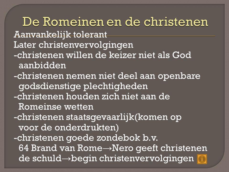 De Romeinen en de christenen