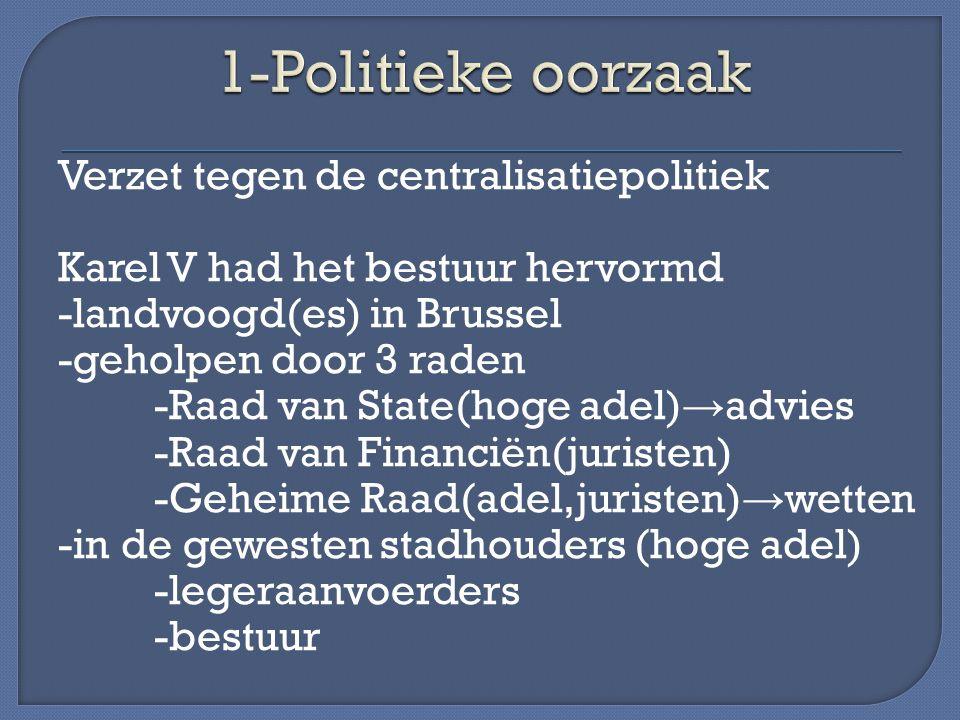 1-Politieke oorzaak