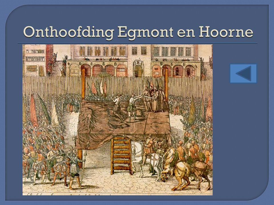 Onthoofding Egmont en Hoorne