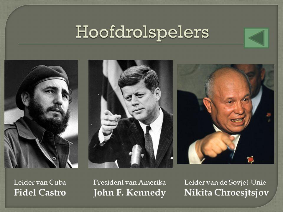 Hoofdrolspelers Fidel Castro John F. Kennedy Nikita Chroesjtsjov