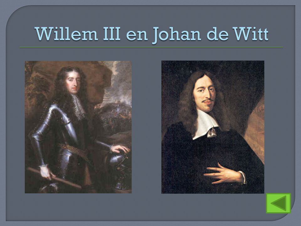 Willem III en Johan de Witt