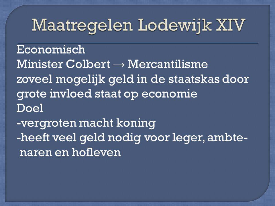 Maatregelen Lodewijk XIV