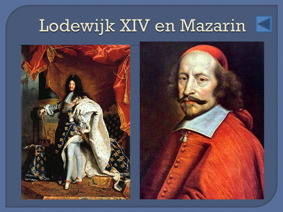 Lodewijk XIV en Mazarin