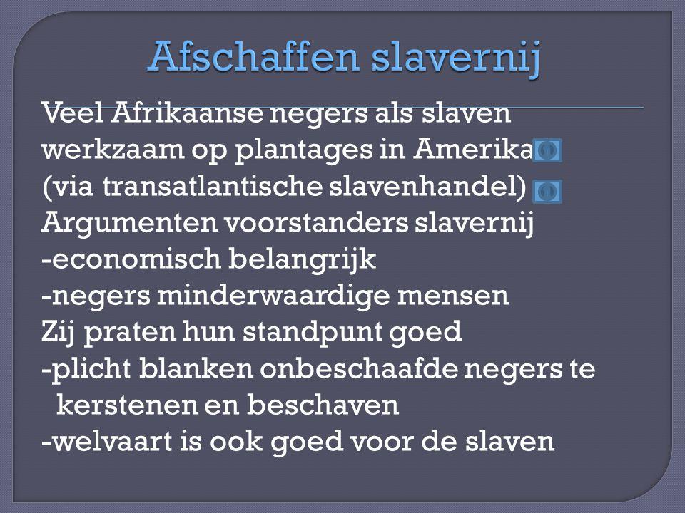 Afschaffen slavernij