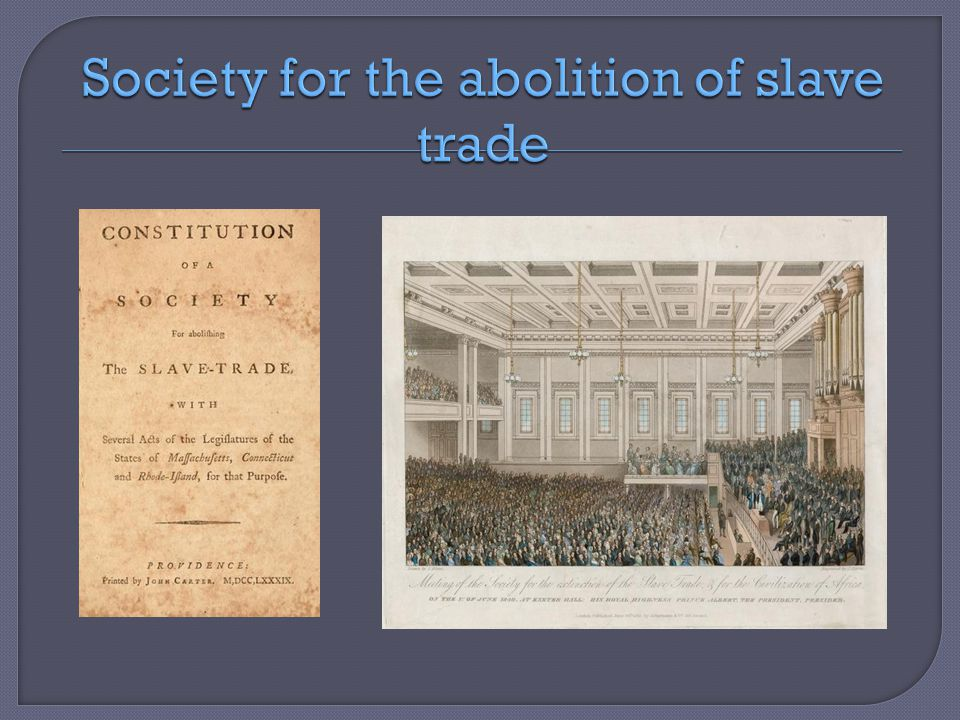 Society for the abolition of slave trade