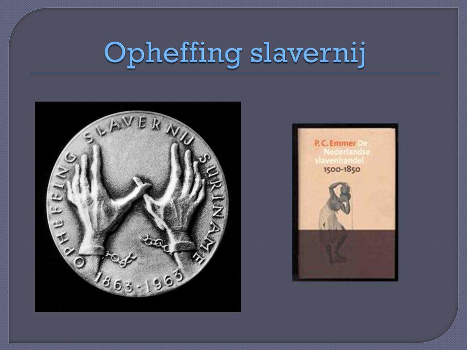 Opheffing slavernij