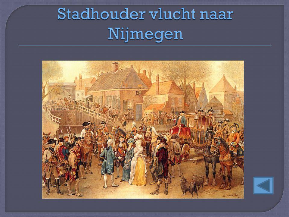 Stadhouder vlucht naar Nijmegen