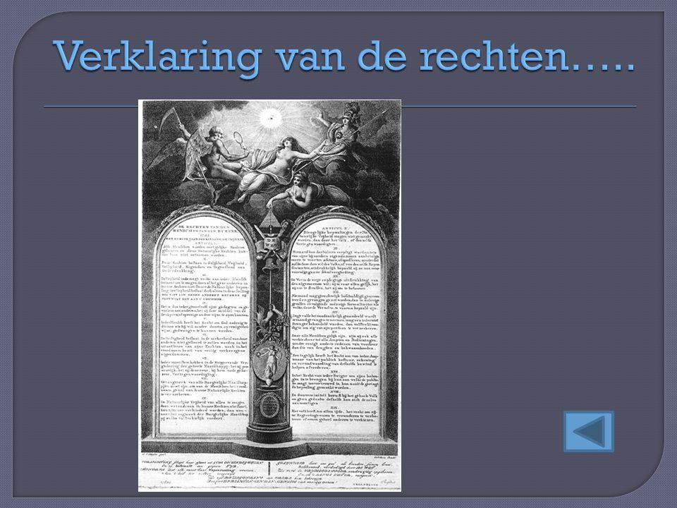 Verklaring van de rechten…..