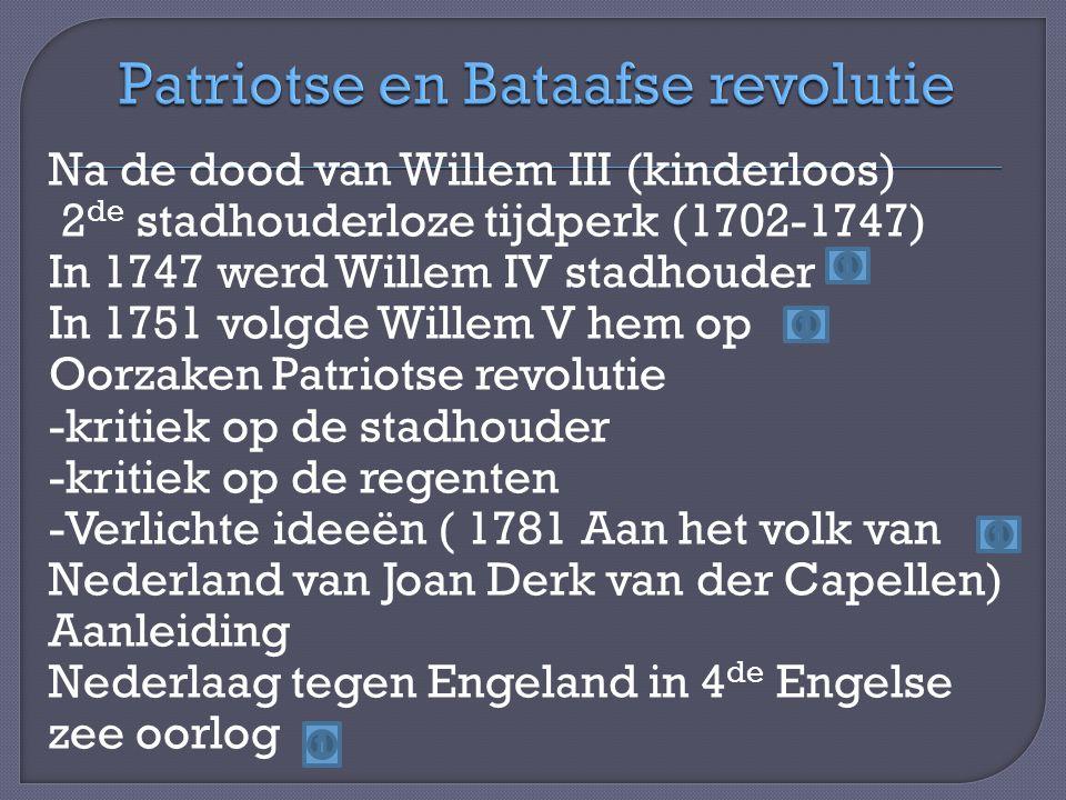 Patriotse en Bataafse revolutie