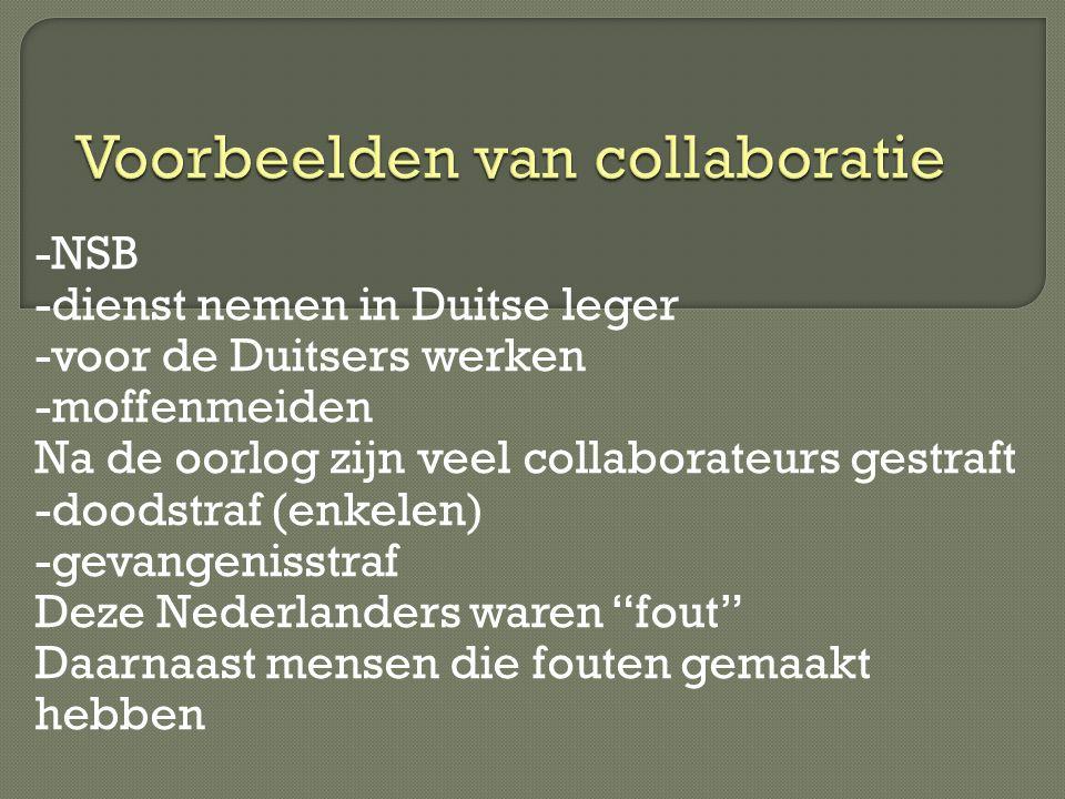 Voorbeelden van collaboratie