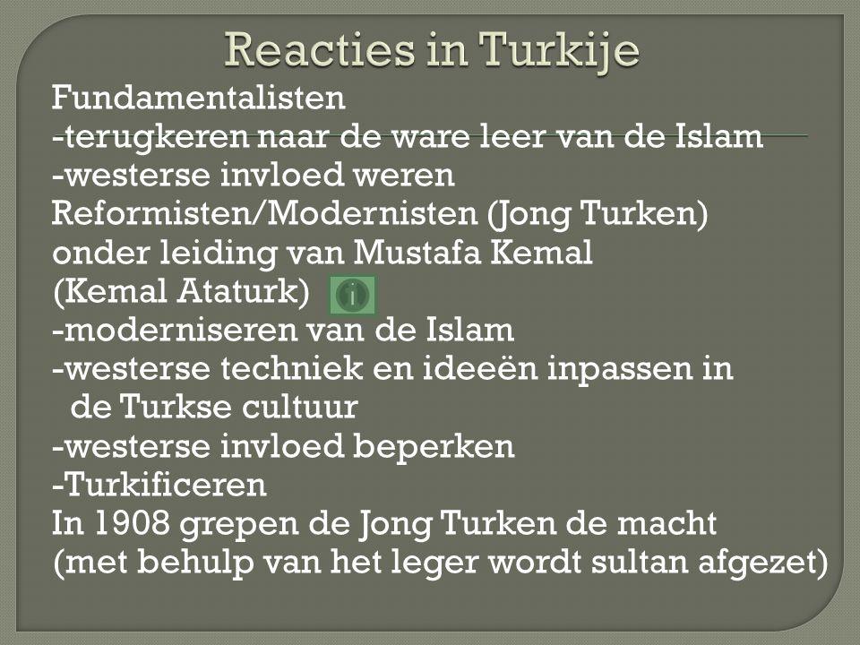 Reacties in Turkije
