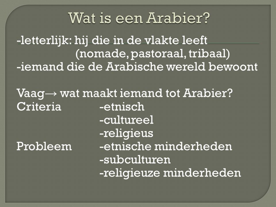Wat is een Arabier