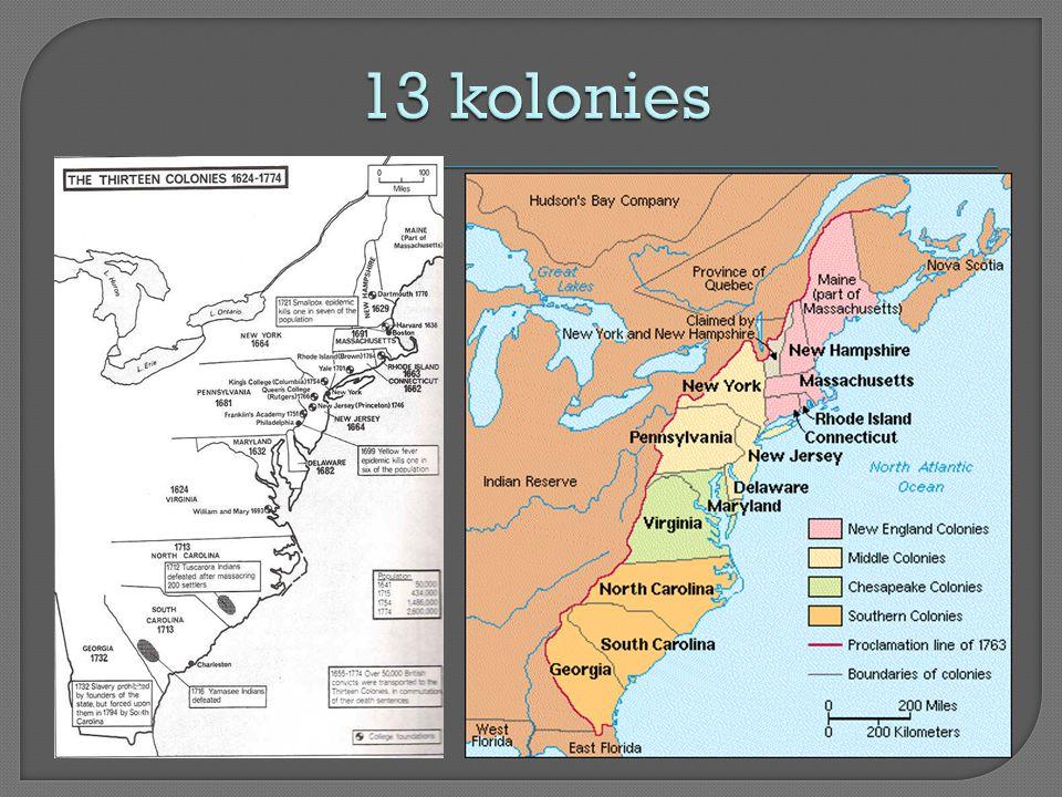13 kolonies