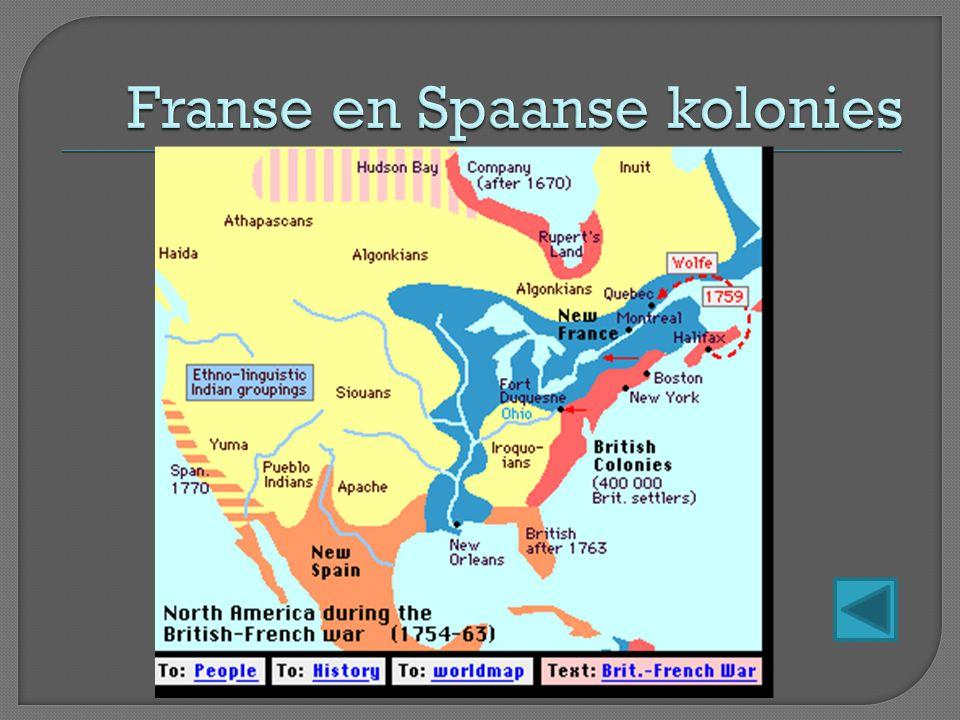 Franse en Spaanse kolonies