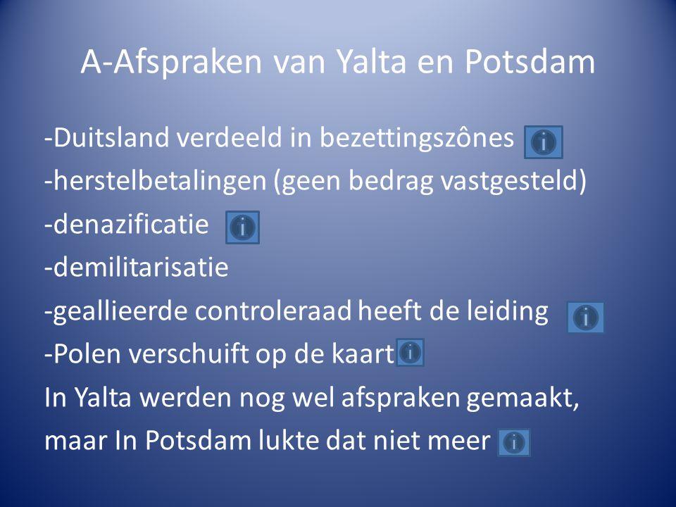 A-Afspraken van Yalta en Potsdam