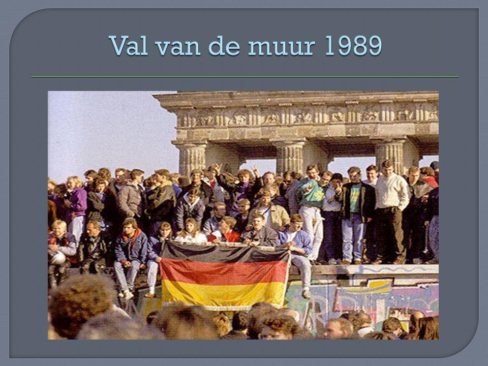Val van de muur 1989
