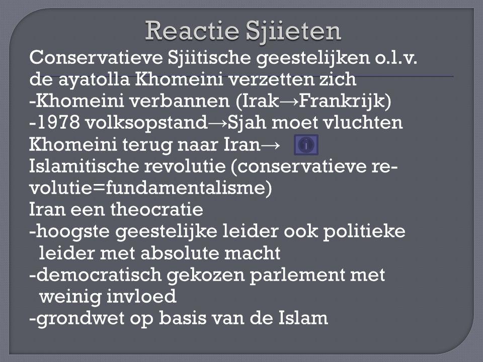 Reactie Sjiieten