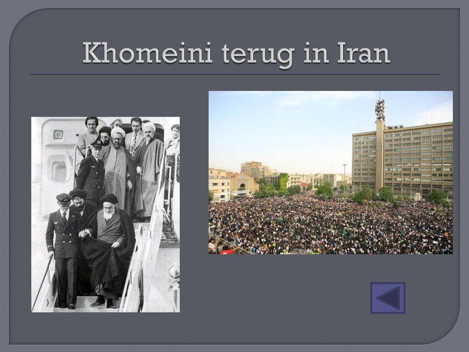 Khomeini terug in Iran