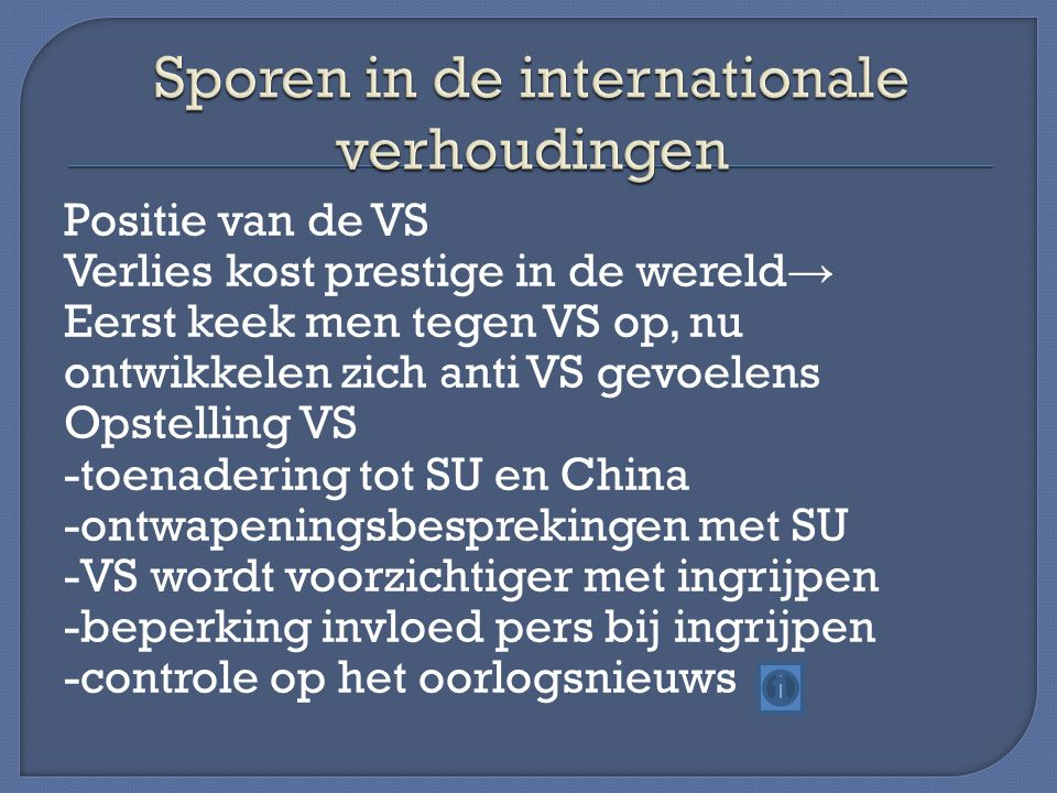 Sporen in de internationale verhoudingen