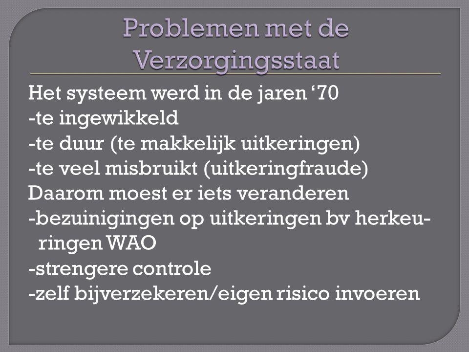 Problemen met de Verzorgingsstaat