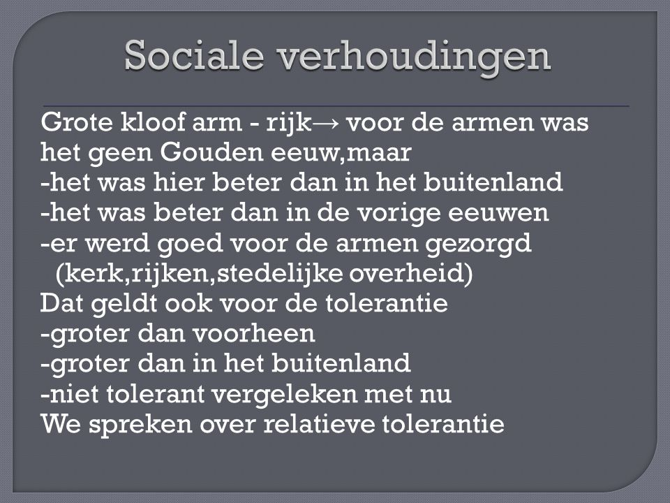 Sociale verhoudingen