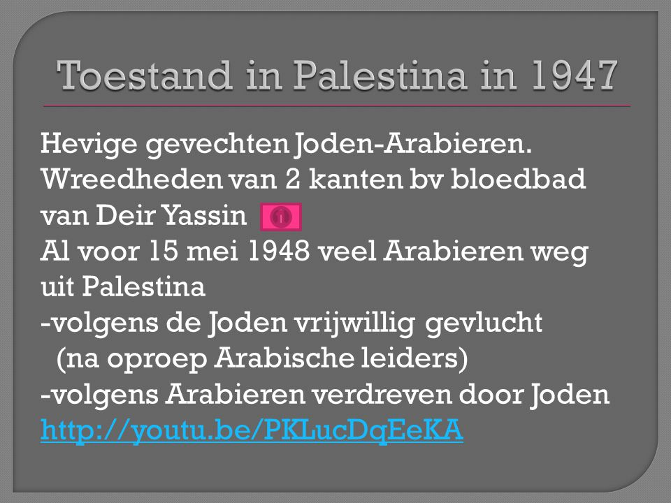 Toestand in Palestina in 1947