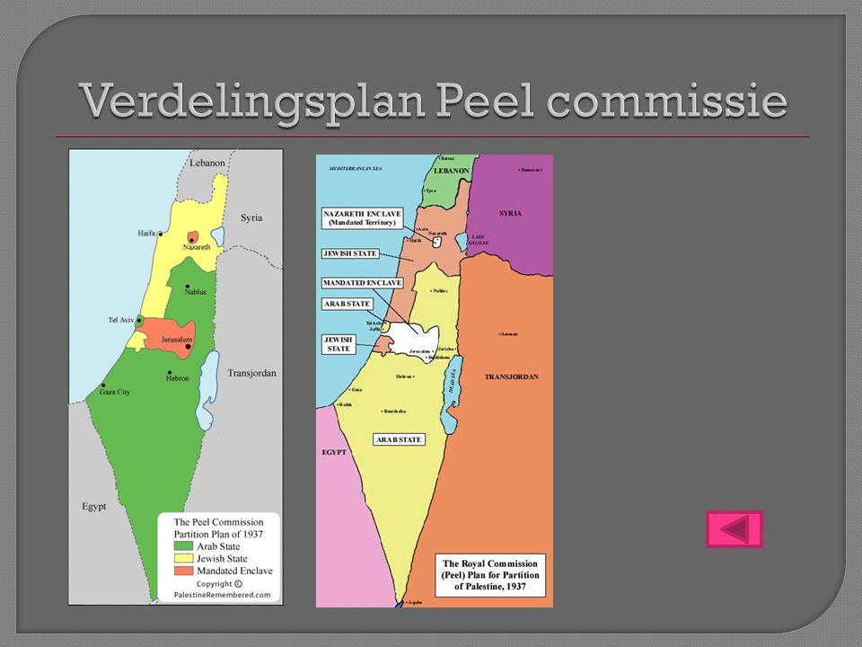 Verdelingsplan Peel commissie