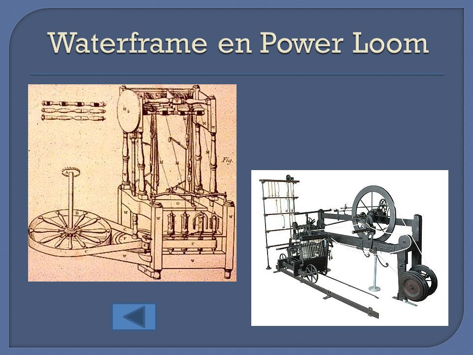 Waterframe en Power Loom