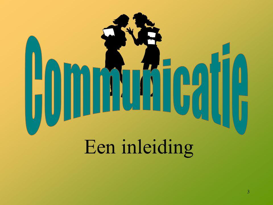 Communicatie Een inleiding