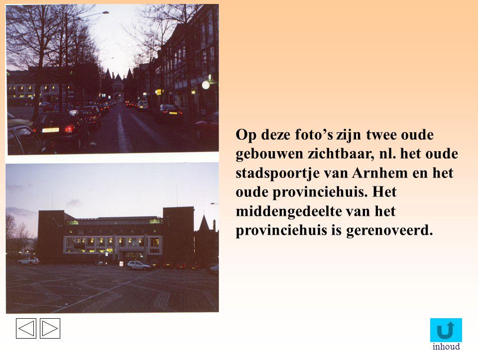 Op deze foto's zijn twee oude gebouwen zichtbaar, nl