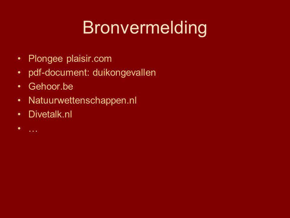 Bronvermelding Plongee plaisir.com pdf-document: duikongevallen