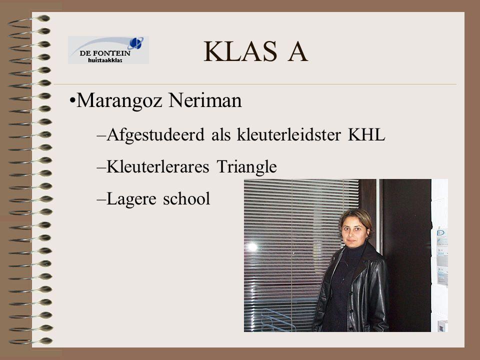 KLAS A Marangoz Neriman Afgestudeerd als kleuterleidster KHL